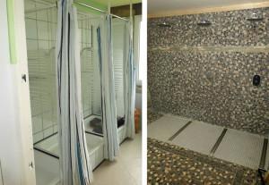 Duschen Vor- und Nachher