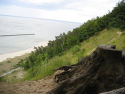 Steilküste am Achterwasser